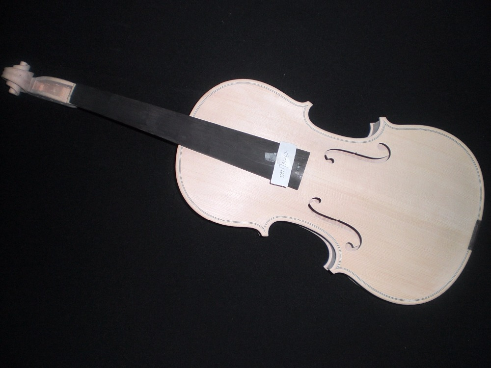 1 PC Nice Wood Grains pattern White Violin 4/4 DB17031203 One Piece Maple Back Spruce top maple sides ebony fingerboard