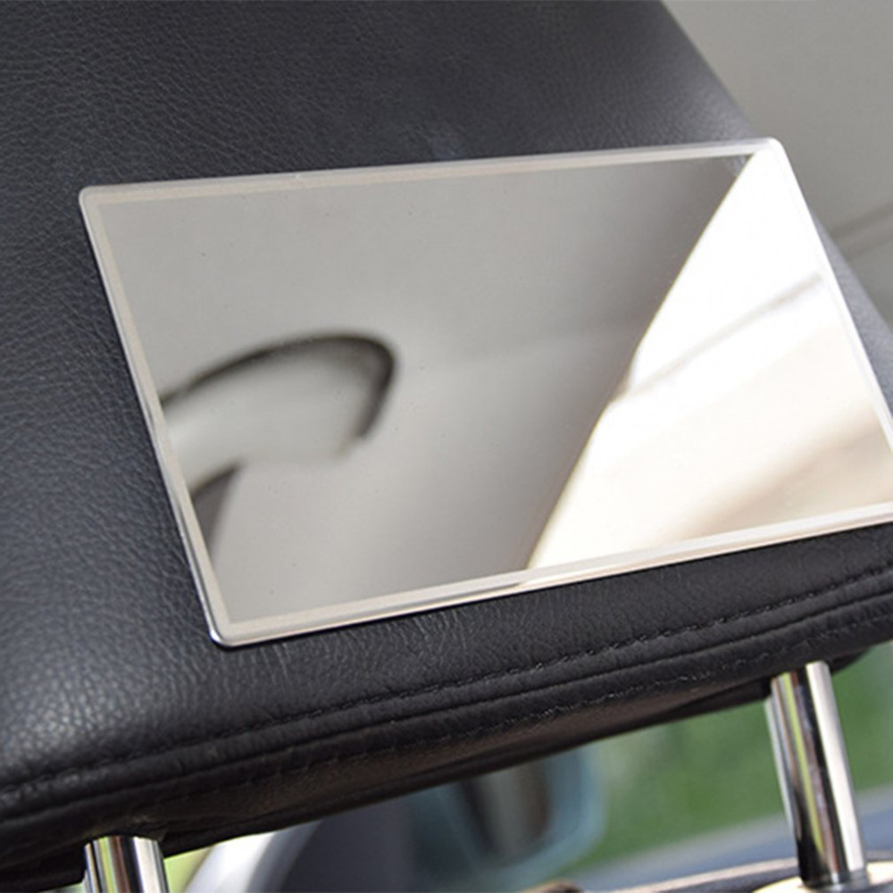 15*8CM Silver Car Makeup Mirror Car Interior Cosmetic Mirror Supplies Sun-Shading Stainless Steel Car-styling Hot Drop Shipping