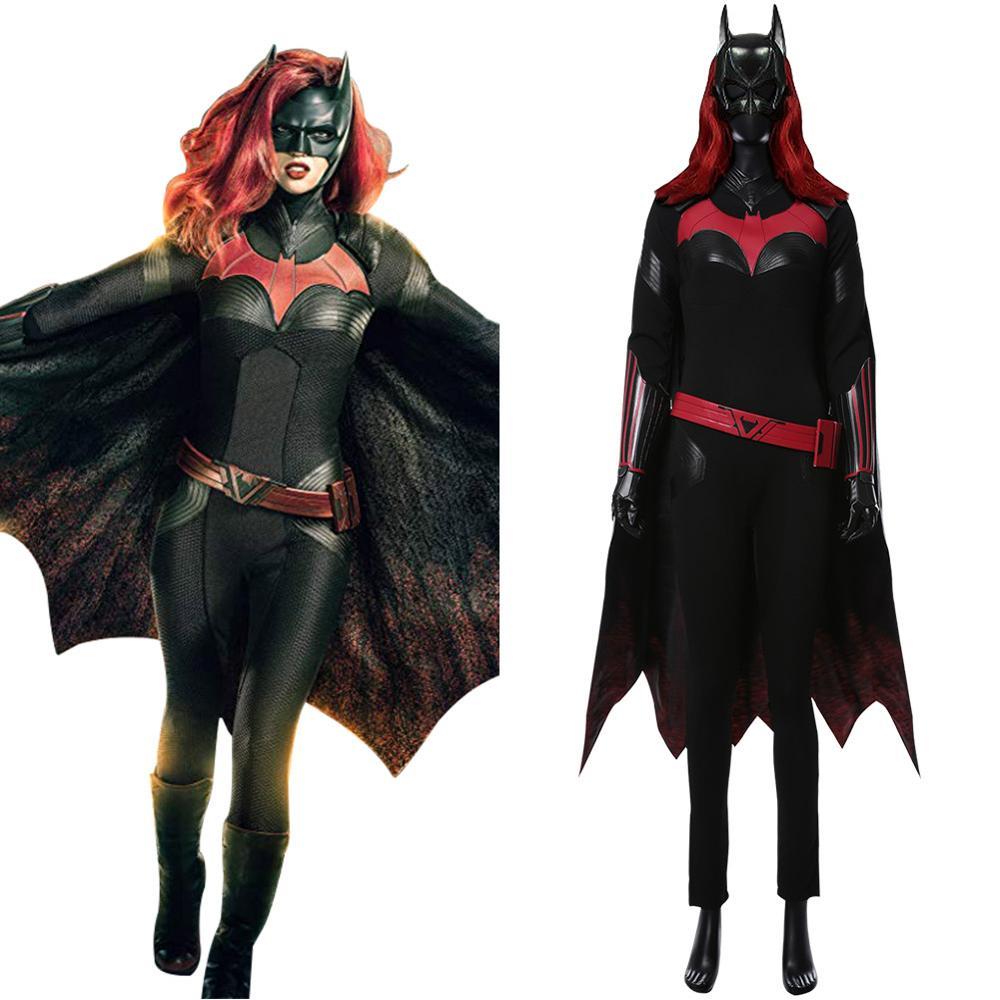 Batwoman Batgirl Kathy Kane, костюм для косплея, для взрослых, для женщин, для девочек, искусственная кожа, накидка, полный комплект для Хэллоуина, карнав