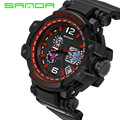 2016 SANDA Luxury Brand Men Military Sports Watches Digital LED Quartz Display Men's Wristwatch G Style relogio masculino Shock