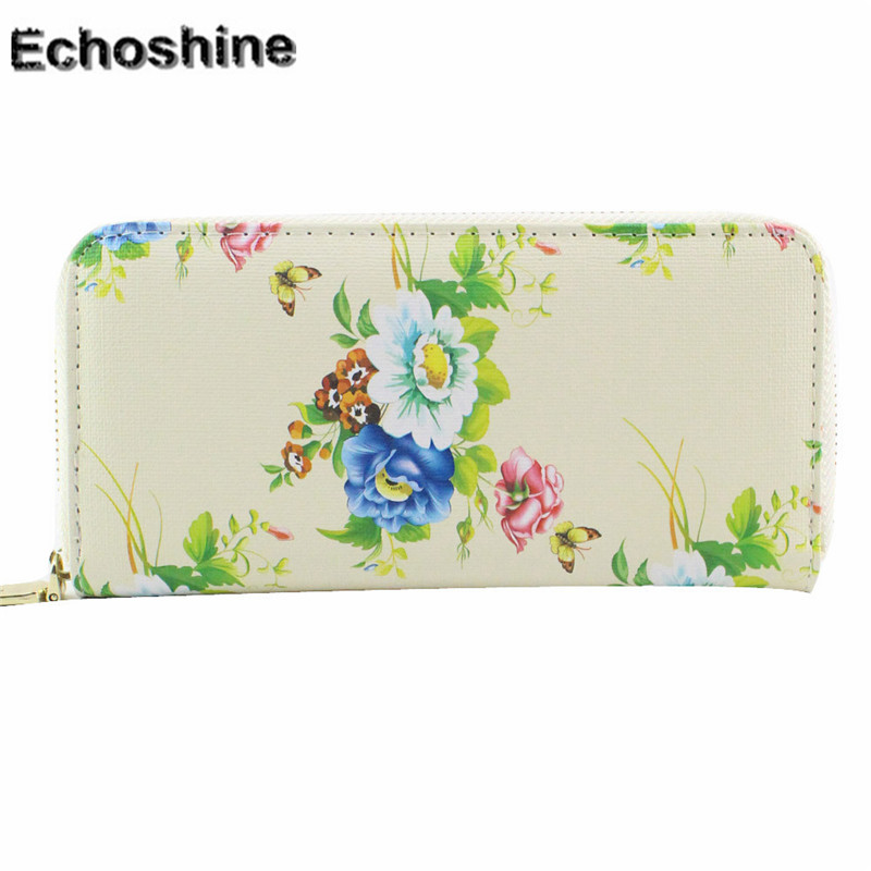 2016 pu leather  Women Clutch Roses Long Purse Wallet Card Holder Handbag Bag clutch gift wholesale bolsa feminine A1000 hcandice womens wallet card holder coin purse clutch bag handbag best gift wholesale jan29