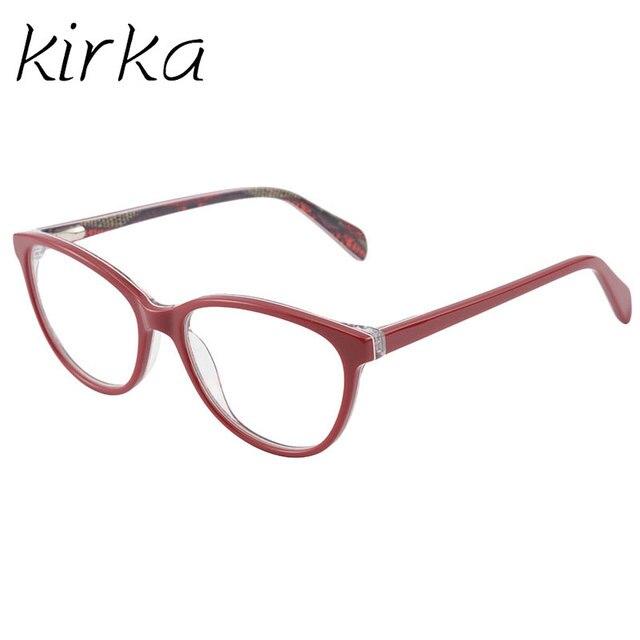 Kirka mujeres acetato gafas marco elegante diseñador de marca Gato ...