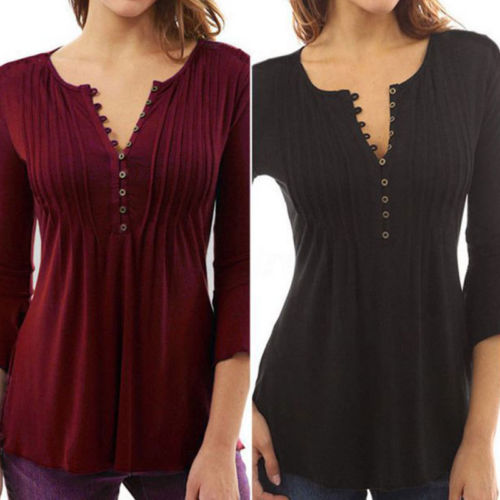 Fashion Women   Blouse   Slim Fit Long Sleeve Tops   Blouse     Shirt   Casual Cotton   Shirt