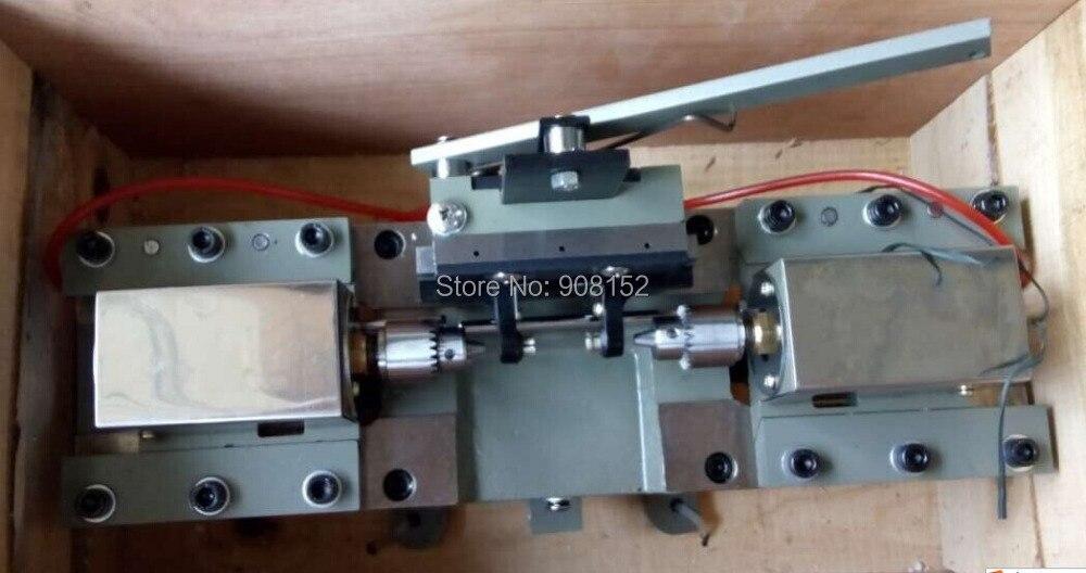 Perlas de ágata cuentas de ámbar de doble cabeza máquina de perforación dos-forma máquina de perforación herramienta y equipo