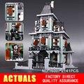 Новый ЛЕПИН 16007 2141 Шт. Монстр боец дом с привидениями Модели Здания Комплекты Модель Совместима С 10228 Подарки