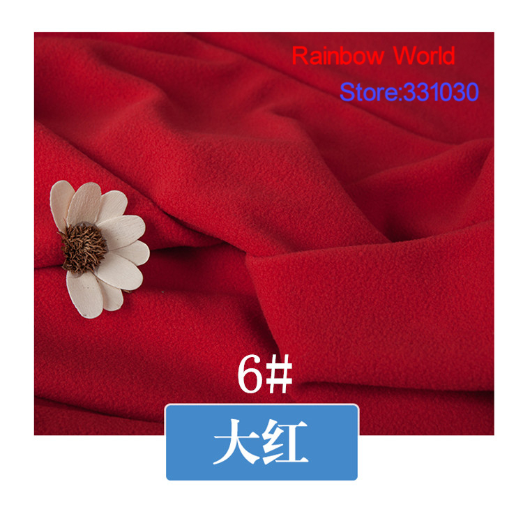 6# red 1 meter soft brushed polar fleece fabric for DIY colthes stuffed toys <font><b>blanket</b></font> bedsheet cushion material