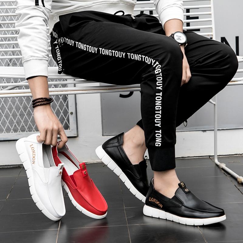 Couro Respirável Masculinos Dos branco Genuíno Mocassins Herren Verão Italiano Preto Sobre De Heinrich Homens Sapatos vermelho Schuhe Deslizar Casuais qOBY8w7