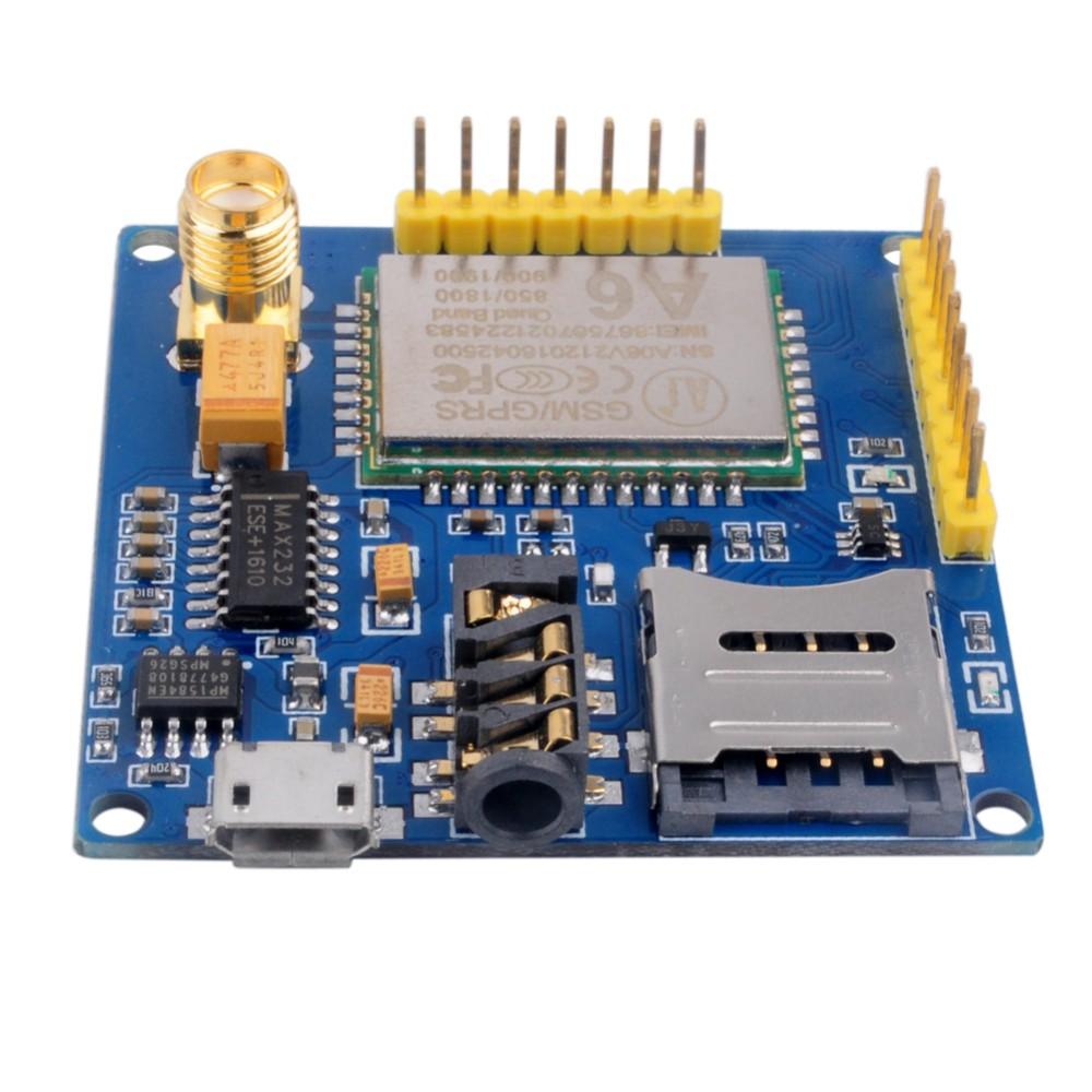 DIYmall A6 GPRS GSM GPRS Module Pro Serial Core Quad-band DIY Developemnt Board Replace SIM900 ESP8266 5mA 115200bps FZ2615 (5)