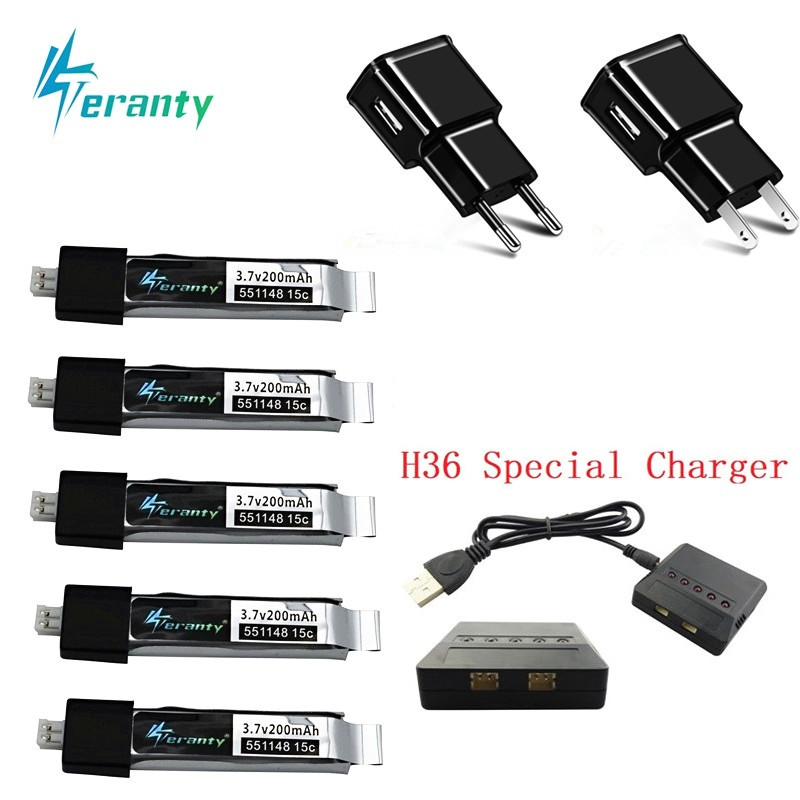 Upgraded For V911 F929 F939 Battery With Charger Sets For WLtoys V911 F929 F939 RC Helicopter 3.7V 200mAh 551148 Battery EU / US