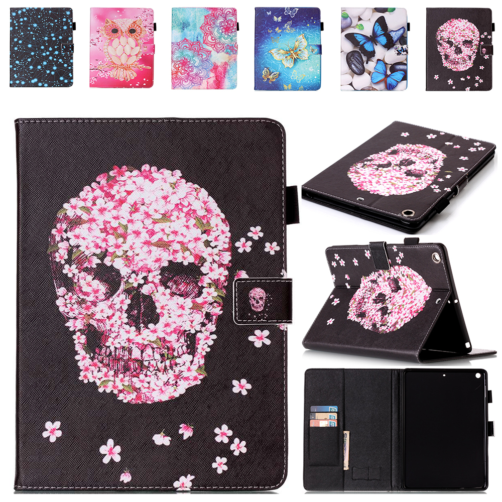 Fashion painted patterns tablet cases For Apple Ipad Air 1 9.7 Inch Case Cover Flip Stand PU Leather Case For Ipad Air Ipad 5