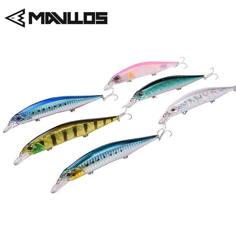 Mavllos Shallow Floating Minnow Bait Lure 13.5cm 17g 3D Lifelike Eyes 3pcs Treble Hooks Saltwater Artificial Fishing