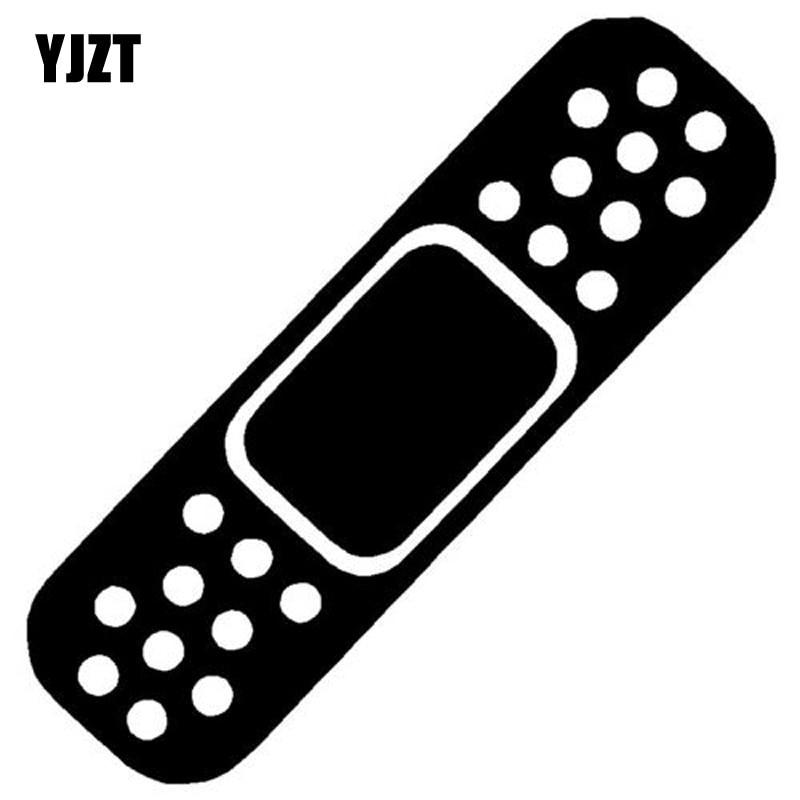 YJZT 5.2X17.5CM Funny BAND AID Decal Car Window Sticker Car-styling Black/Silver Vinyl S8-1429