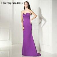 Forevergracedress Simple Longue Robe De Soirée New Style Encolure D'amoureux Sans Manches Formelle Parti Robe Taille Plus Custom Made