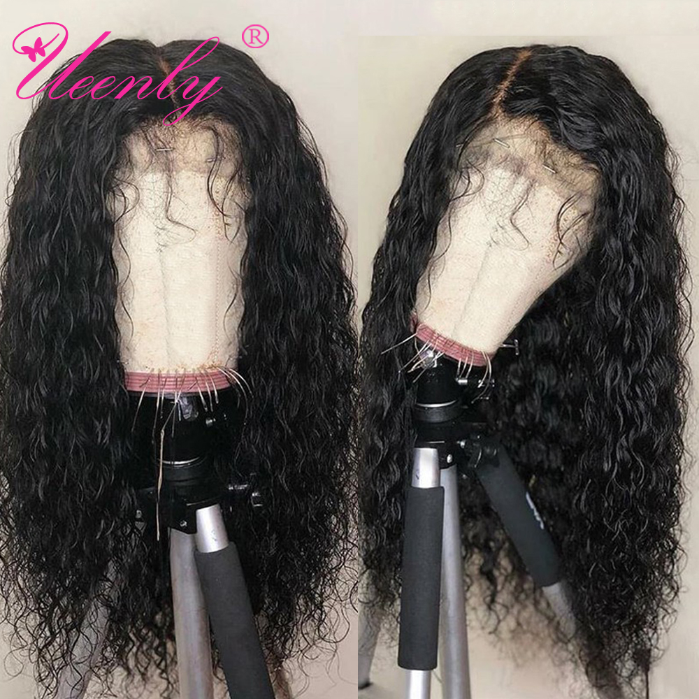 UEENLY Wig Lace-Front-Wigs Human-Hair Water-Wave Pre-Plucked Brazilian 360 with Baby