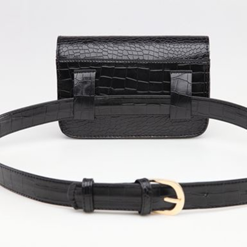 Mode 2017 Kvinnor PU Läder Waist Pack Väska Ladies Alligator Mini - Bälten väskor - Foto 3