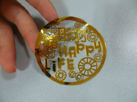 Aliexpresscom Buy Custom Made Transparent Gold Foil Adhesive - Custom gold foil stickers