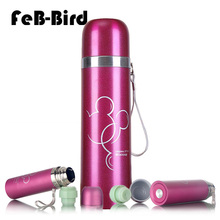 500ml Stainless Steel Water Bottle for Children, Thermal Flask Double