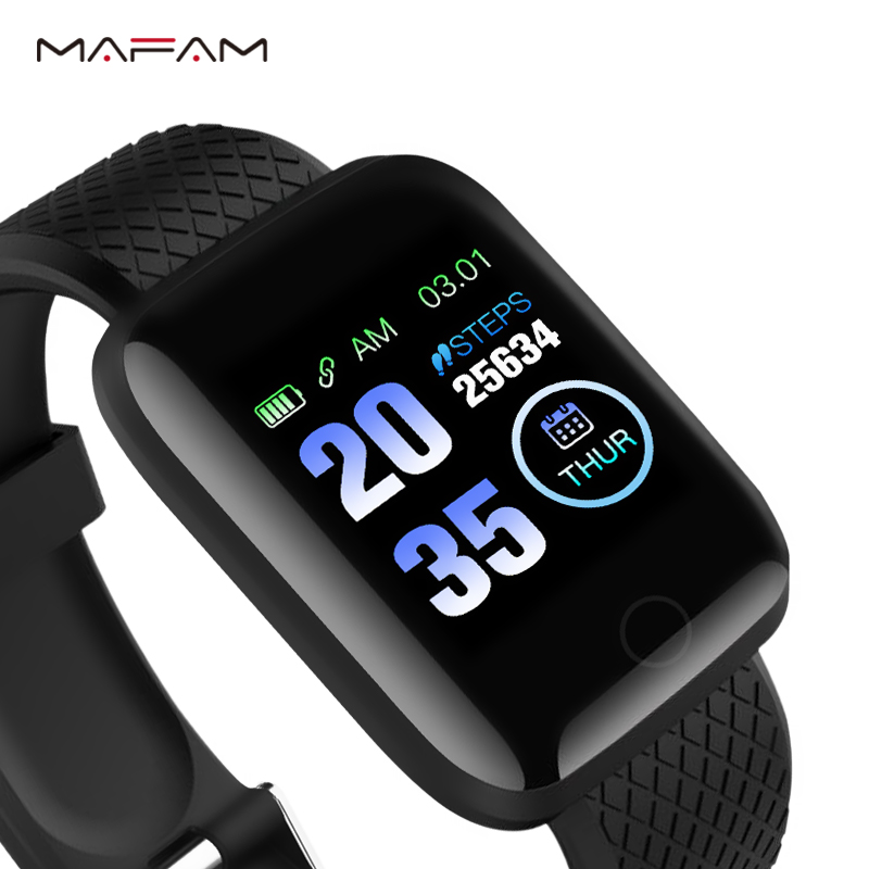 MAFAM A6S Smart Bracelet Color Screen Blood Pressure Heart Rate Monitor Smart Wristbands Cheap Fitness Tracker For IOS Android xanes a6s