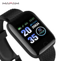 MAFAM A6S Smart Bracelet Color Screen Blood Pressure Heart Rate Monitor Smart Wristbands Cheap Fitness Tracker For IOS Android