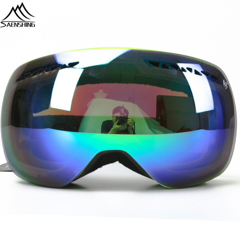 SAENSHING Professional Ski Goggles Double lens Skateboard Motocross snowboard Goggles Winter Outdoor Anti-fog ski Eyewear