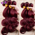 Irina beauty weaves cheapest 7A burgundy red Human hair extension Virgin brazilian Hair #99J body wave Curly 4 pcs/lot 10''-32''