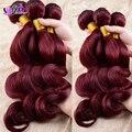 Irina belleza teje cheapest 7A borgoña rojo del pelo humano extensión brasileña virginal del pelo # 99j onda del cuerpo rizada 4 unids/lote 10 '' - 32 ''