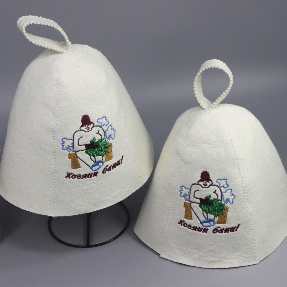 (2PCS / qablaşdırma) yun şapka, sauna topdan hiss olunur, Klassik - Ev əşyaları - Fotoqrafiya 1