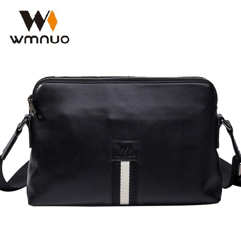 Wmnuo 2018 New Men Crossbody bag Genuine Cow Leather Messenger Bag Travel Business Shoulder Computer Bag Fashion Men Handbags электрогриль oursson eg1510s or
