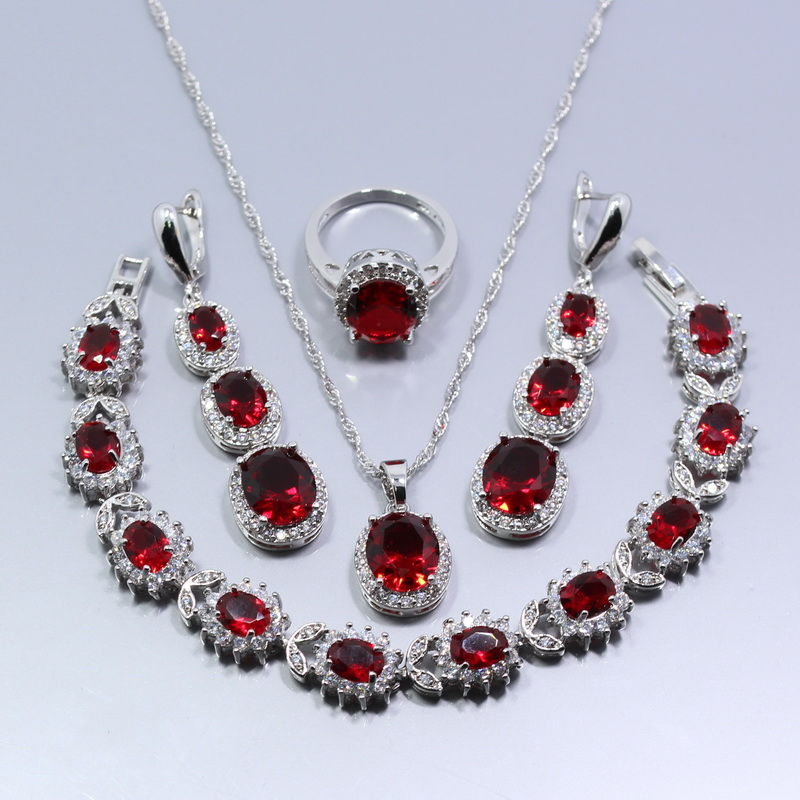 Buy America And Europe Pop 925 Silver Red