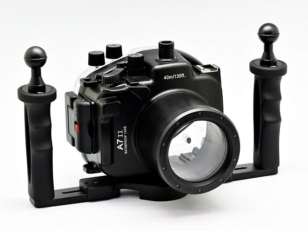 for Sony A7 II A7s A7r 28 70mm Meikon 40M 130ft Waterproof Underwater Diving Camera Housing