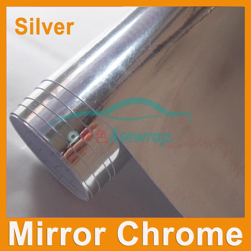 Venta al por menor espejo de alta calidad cromo vinilo envoltura del coche pegatina espejo cromado decoración del coche vinilo con canales de aire