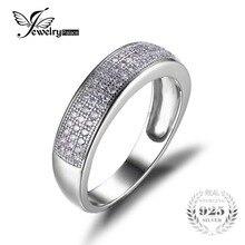 Jewelrypalace cubic zirconia conjunto de canales aniversario eternidad wedding band anillo de plata de ley 925 2016 nueva joyería de las mujeres