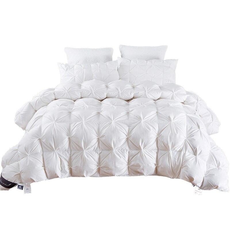 TUTUBIRD 2,7 ~ 4,9 кг Гусь/стеганое одеяло из утиного пуха одеяло King queen Twin размеры белый/синий/розовый/коричневый Роскошные зимние одеяло наполните...