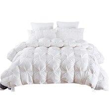 TUTUBIRD 4,9 ~ 2,7 кг Гусь/утка вниз одеяло King queen Twin Размер белый/синий/розовый/коричневый Роскошные зимние одеяло кашне наполнитель