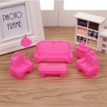 7pcs Original Baby Doll Accessories Sofa coffee table lamp set for lols Big Sister Dolls DIY Kid Birthday Christmas Gift toy