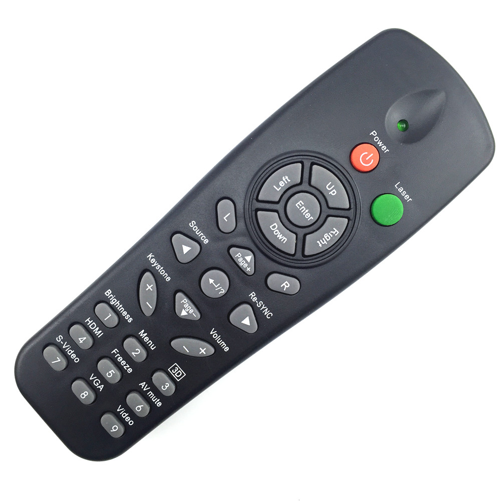 Easy Replacement Remote Control Fit for OPTOMA TW675UTI-3D TX779P-3D TX615-3D Projector