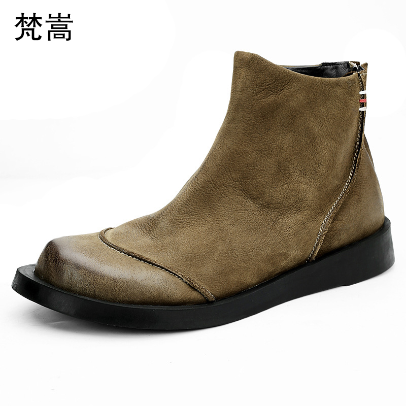Riding Boots Men British Fashion Genuine leather Army Boots mens Fashion Chelsea Boots Autumn winter retro mens high top shoesRiding Boots Men British Fashion Genuine leather Army Boots mens Fashion Chelsea Boots Autumn winter retro mens high top shoes