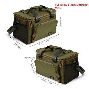 Image 2 - Lixada 낚시 가방 휴대용 다기능 캔버스 낚시 유혹 릴 어깨 허리 배낭 가방 잉어 Pesca 37*25*25cm