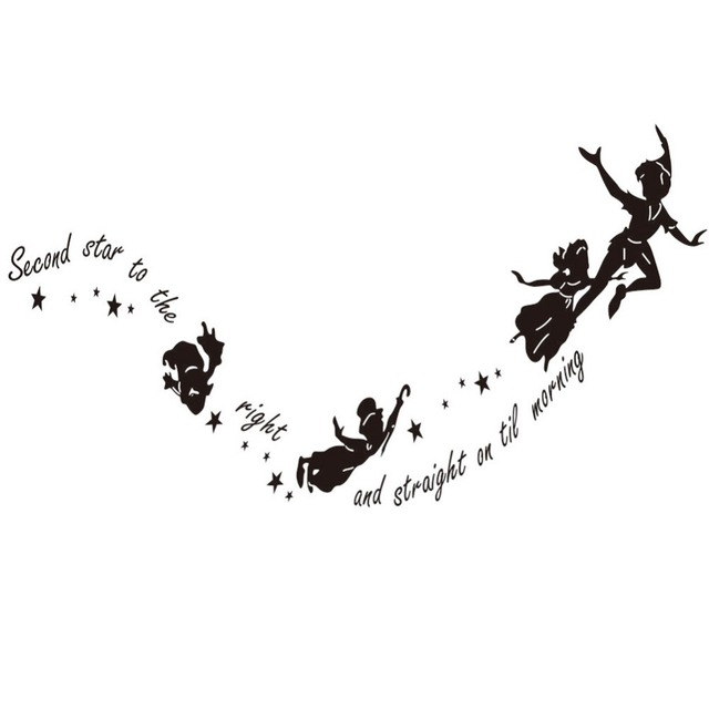 Peter Pan inspired Second Star to the right Wall Sticker