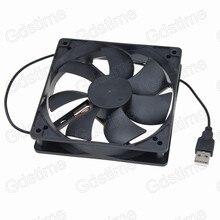 Gdstime 1 UNIDS Nueva Mudo Silencioso DC 5 V 120mm 120mm x 25mm 1500 RPM Sin Escobillas USB Caja de la computadora Refrigerador Ventilador de Refrigeración