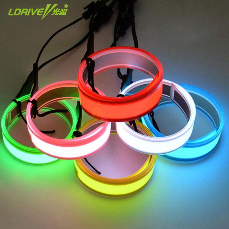 8 Colors Car 60CM EL Wire Tape Flexible Cold Light For Car,Party ...