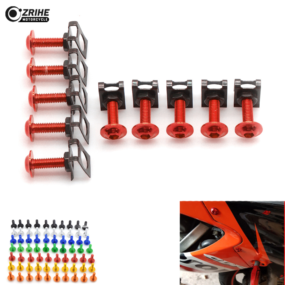 6MM CNC ALUMINUM Motorcycle Accessories Fairing body work Bolts Screws For <font><b>SUZUKI</b></font> <font><b>GSXR1000</b></font> <font><b>K7</b></font> GSXR 1000 GSX R1000 GSXR-1000 image