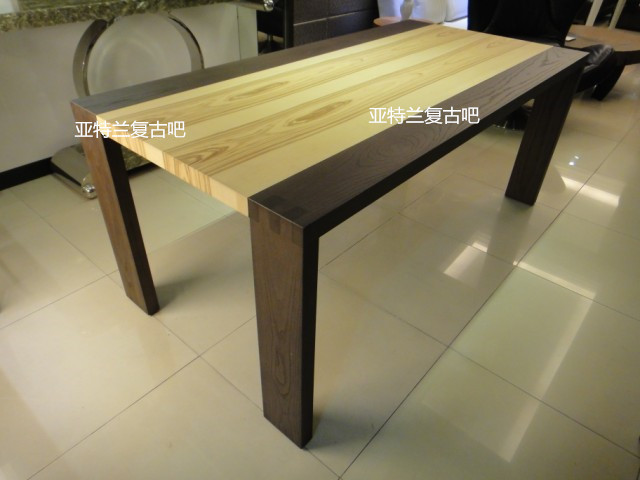 Nordic / IKEA Loft Industrial Wind Wood Dining Table Table Original Wooden  Table Studio Style Coffee