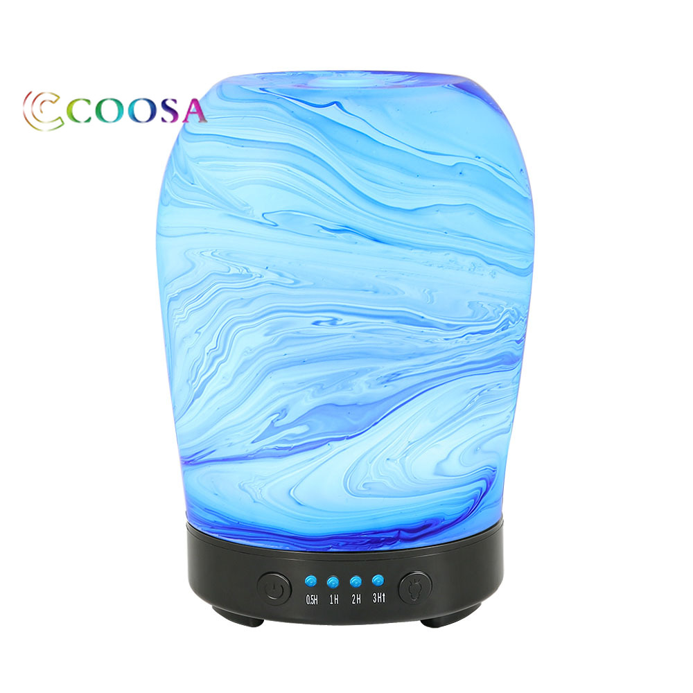 все цены на Electric Aromatherapy Ultrasonic Essential Oil Diffuser Glass Aroma Diffuser 100ml Cool Mist Lamp Humidifier Home Office Yoga онлайн