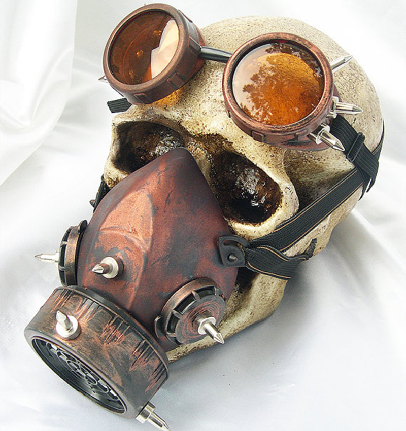 Steam Punk Mask Steampunk mask Gas Masks Daft Punk mighty Road Warrior Metal Rivet Respirator Goggles Mad Max Vintage glasses