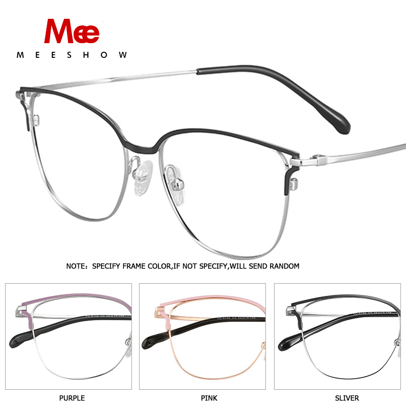 2019 Meeshow prescription lunettes titane alliage femmes lunettes oculos de grau feminino armacao lunettes vintage cadre nouveau - 4