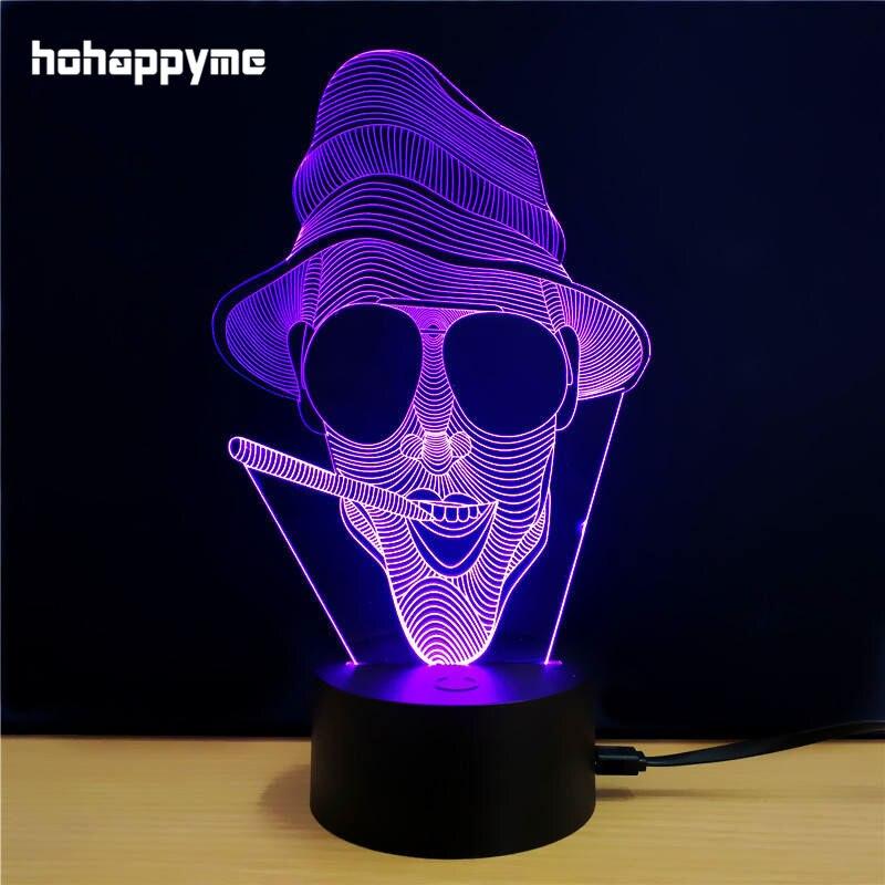 Led Sign Home Decor: Skull Head 3D LED Light Sign Acrylic LED Sign Home Decor