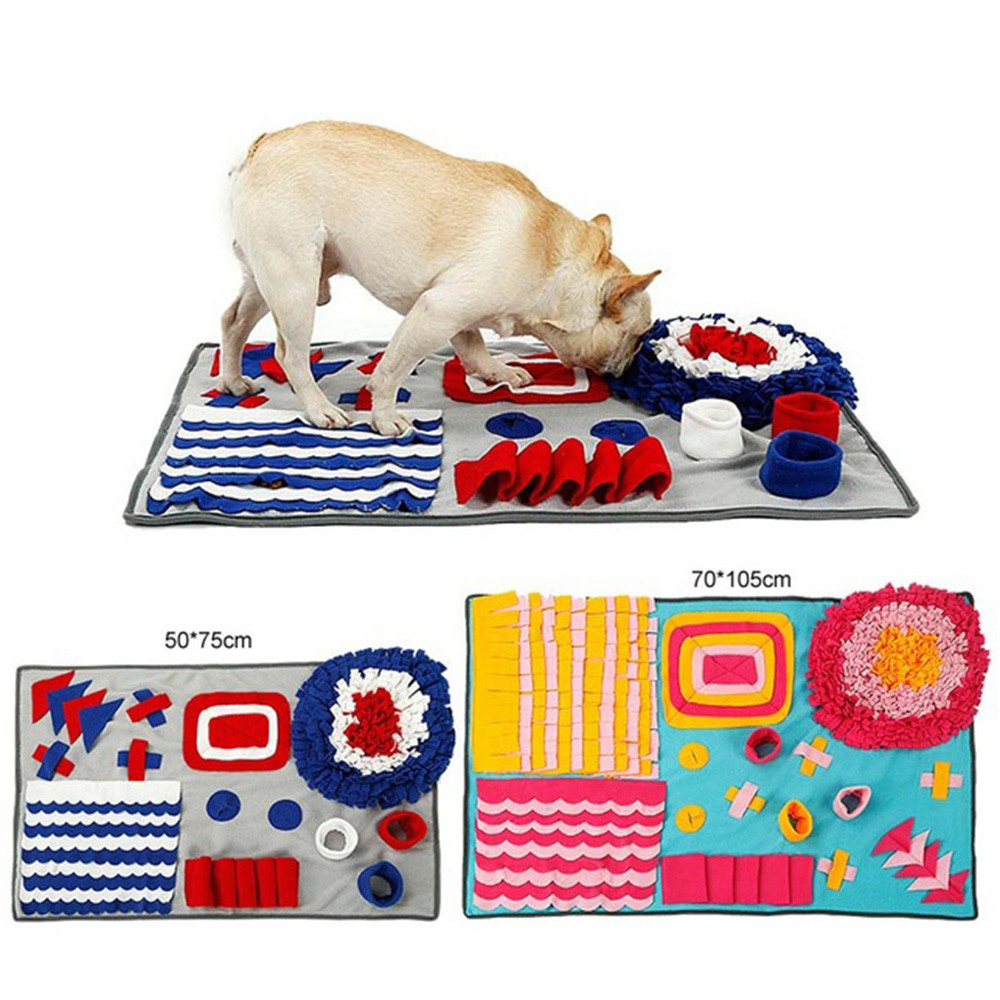 Pet Training Interactive Dog Snuffle Mat Slow Feeding Stress Release Toys Activity Blanket Tools