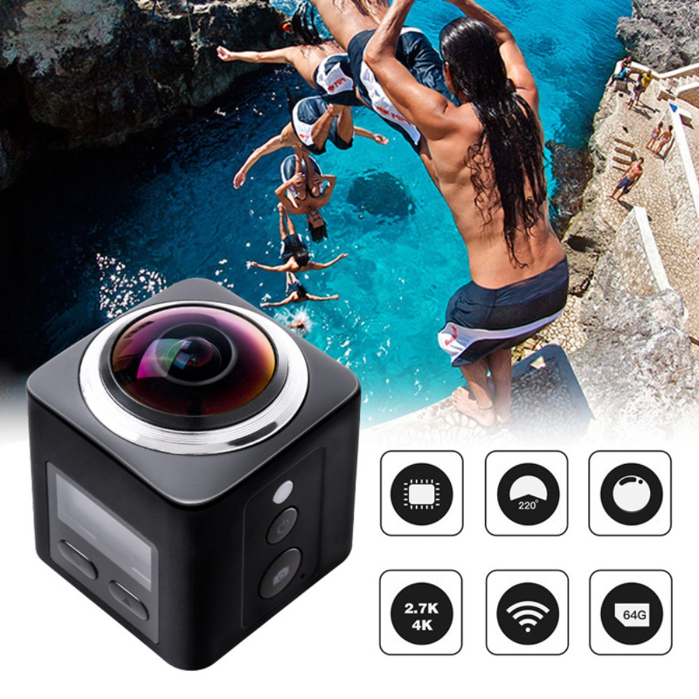 360 Degree Camera VR 4K Wifi Video Mini Panoramic DVR Vedio HD Panorama Cameras 360 Sport Driving VR Cam Outdoor 1280 1024 28fps 360 vr camera full panorama digital video camera with 190 degree wide angle free shipping