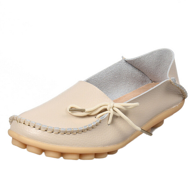 Shoes Woman 2016 Leather Women Shoes Flats Loafers Slip On Women's Flat Shoes Moccasins Plus Size